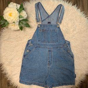 • Vintage Retro GAP Jean Overall Shorts •